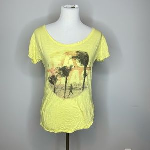 American Eagle Outfitters- Yellow Graphic Tee